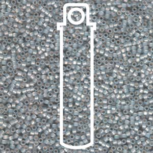DB1455-TB - 11/0 Delica Beads Silver Lined Lt Smoke Opal | 7.2g Tube