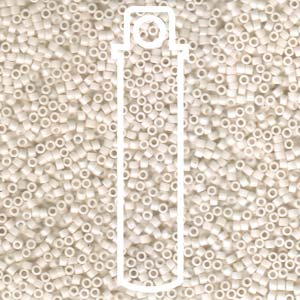 DB1490-TB - 11/0 Delica Beads Opaque Bisque White | 7.2g Tube