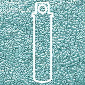 DB1567-TB - 11/0 Delica Beads, Opaque Sea Opal Luster | 7.2g Tube
