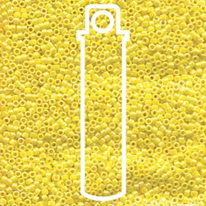 DB1572-TB - 11/0 Delica Beads, Opaque Canary AB | 7.2g Tube