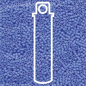 DB1588-TB - 11/0 Delica Beads, Matte Opaque Cyan Blue | 7.2g Tube