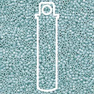 DB1595-TB - 11/0 Delica Beads, Matte Opaque Sea Opal AB | 7.2g Tube