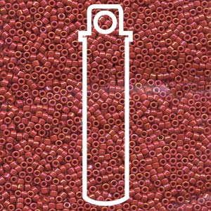 DB214-TB - 11/0 Delica Beads Opaque Red Luster | 7.2g Tube