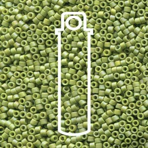 DB2309-TB - 11/0 Delica Frost Opaque Glaze Rnbw Olive | 7.2g Tube