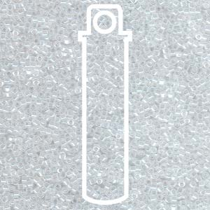 DB231-TB - 11/0 Delica Beads Lined Crystal/Whit Luster | 7.2g Tube
