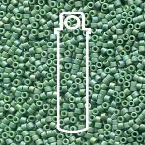 DB2311-TB - 11/0 Delica Frost Opaque Glaze Rnbw Green | 7.2g Tube
