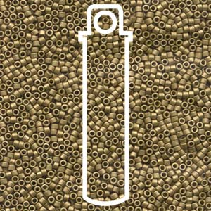 DB371-TB - 11/0 Delica Beads Matt Metallic Olive Gold | 7.2g Tube