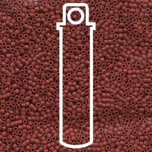 DB378-TB - 11/0 Delica Beads Matte Metallic Dark Maroon | 7.2g Tube