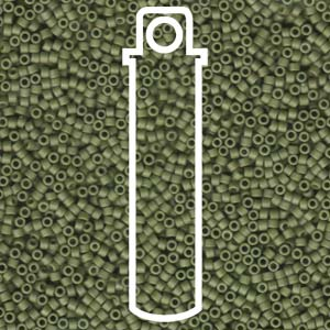 DB391-TB - 11/0 Delica Beads Matte Opaque Olive| 7.2g Tube