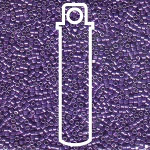 DB430-TB - 11/0 Delica Beads Galvanized Purple Dyed| 7.2g Tube