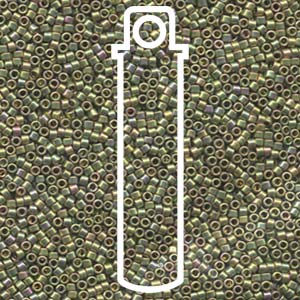 DB508-TB - Delica Beads Green Gold AB | 7.2g Tube