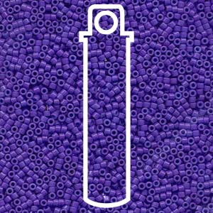 DB661-TB - 11/0 Delica Beads Dyed Opaque Purple | 7.2g Tube
