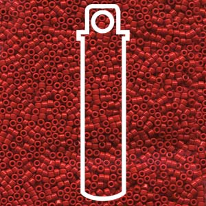 DB723-TB - 11/0 Delica Beads Opaque Dark Cranberry | 7.2g Tube
