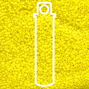 DB751-TB - Delica Beads Matte Opaque Yellow | 7.2g Tube