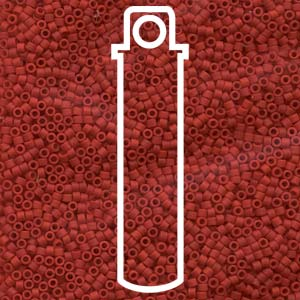 DB753-TB - 11/0 Delica Beads Opaque Dark Red | 7.2g Tube