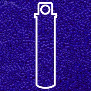 DB756-TB - 11/0 Delica Beads Matte Opaque Royal Blue | 7.2g Tube