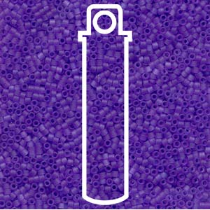 DB783-TB - 11/0 Delica Beads Dyed Matte Transp Purple| 7.2g Tube
