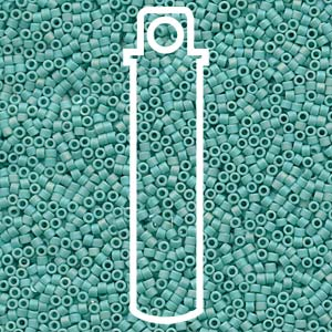 DB878-TB - 11/0 Delica Beads Matt Opaque Turquoise AB | Aprx 6.8g Tube