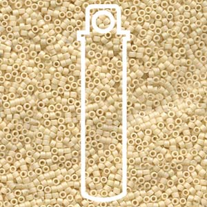 DB883-TB - 11/0 Delica Beads Matt Opaque Cream AB | 7.2g Tube