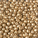 DP-193F - Miyuki 3.4mm Drop Bead Matte 24kt Gold Light Plated (Like DB 34)  | 25 Grams
