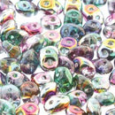 DU0500030-16314 - Czech Glass SuperDuo Beads 2.5 x 5mm Marea Pck/Gold | 25 Grams