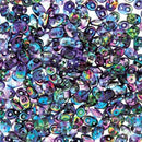 DU0500030-95100 - Czech Glass SuperDuo Beads, Crystal Magic Blue-Pink | 25 Grams