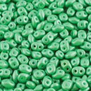 DU0502010-24010 - Czech Glass SuperDuo Beads, Pearl Shine Light Green | 25 Grams