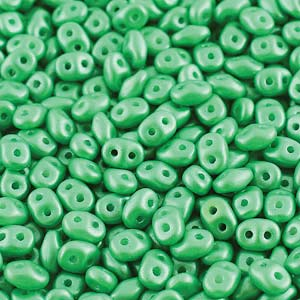 DU0502010-24010 - Czech Glass SuperDuo Beads, Pearl Shine Light Green | 50 Grams