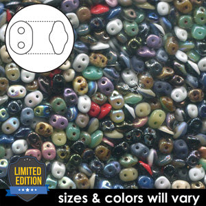 DU0503899-VP - Czech Glass SuperDuo Beads 2.5 x 5mm Duet Value Pack | 25 Grams