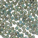DU0530060-83500 - Czech Glass SuperDuo Beads 2.5 x 5mm Sapphire Matte Rembrandt | 25 Grams