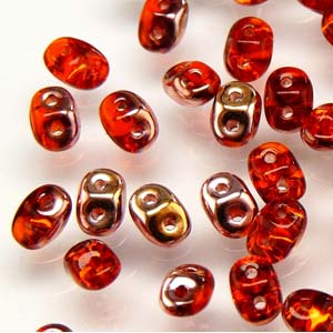 DU0590030-27101 - Czech Glass SuperDuo Beads, Hyacinth Capri Gold | 50 Grams