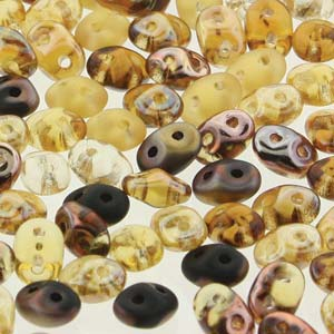 DU05MIX133 - Czech Glass SuperDuo Beads, Wild Honey | 25 Grams