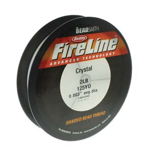 FL02CR125 - 2 Lb Fireline Beading Thread, Crystal .003 In/.07mm Dia 125 Yrd | Pkg 1