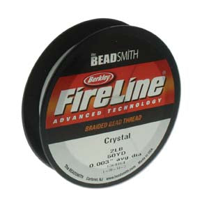 FL02CR50 - 2 Lb Fireline Beading Thread, Crystal .003 In/.07mm Dia 50 Yrd | Pkg 1