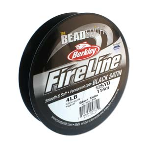 FL04BK125 - 4 Lb Fireline Black .005 In/.12mm Dia 125 Yrd | Pkg 1