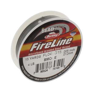 FL04SG15 - Fireline Thread 4Lb Smoke 0.005In/0.12mm 15 Yards | Pkg 1
