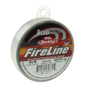 FL04SG50 - 4 Lb Fireline Beading Thread, Smoke Grey .005 In/.12mm Dia 50 Yrd | Pkg 1