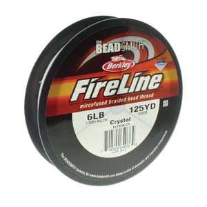 FL06CR125 - 6 Lb Fireline Crystal .006 In/.15mm Dia 125 Yrd | Pkg 1
