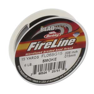 FL06SG15 - Fireline Thread 6Lb Smoke 0.006In/0.15mm 15 Yards | Pkg 1
