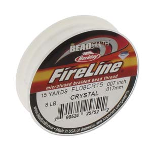 FL08CR15 - Fireline Thread 8Lb Crystal 0.007In/0.17mm 15 Yard | Pkg 1