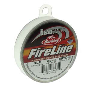 FL08CR50 - 8 Lb Fireline Beading Thread, Crystal .007 In/.17mm Dia 50 Yrd | Pkg 1