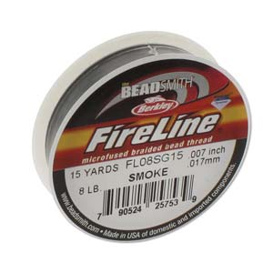FL08SG15 - Fireline Thread 8Lb Smoke 0.007In/0.17mm 15Yards | Pkg 1