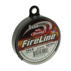 FL11CR50 - 10 Lb Fireline Beading Thread, Crystal .008 In/.20mm Dia 50 Yrd | Pkg 1