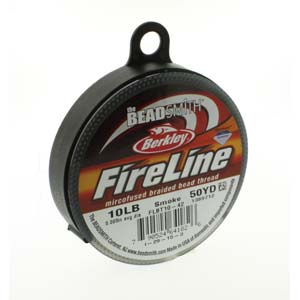 FL11SG50 - 10 Lb Fireline Beading Thread, Smoke Grey .008 In/.20mm Dia 50 Yrd | Pkg 1