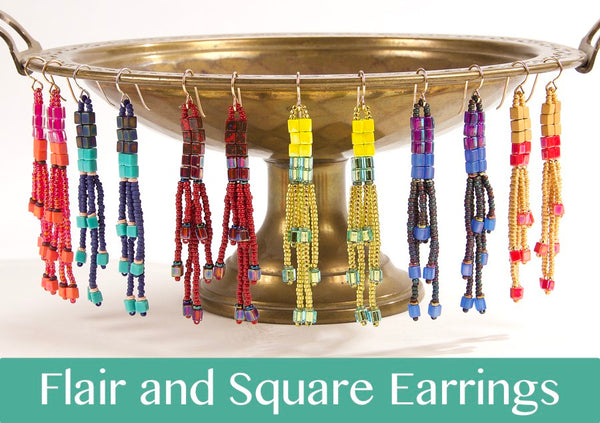#PDF-518 - Flair and Square Earrings