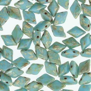 GD8563030-43400 - 8X5mm Gemduos, Turquoise Blue Picasso | 25 Grams