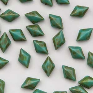 GD8563130-86805 - 8X5mm Gemduos, Turquoise Green Dk Trav | 25 Grams