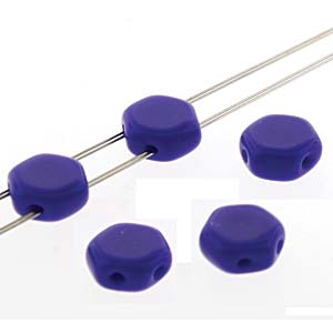 HC0633050 - 6mm Czech Glass Honeycomb Beads, Royal Blue Opaque, 30 Beads | 1 Strand