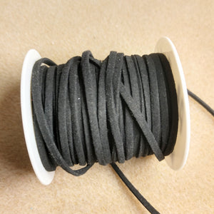 AB-3176 - 3mm Micro Fiber Cord, Black | Pkg 5 Feet