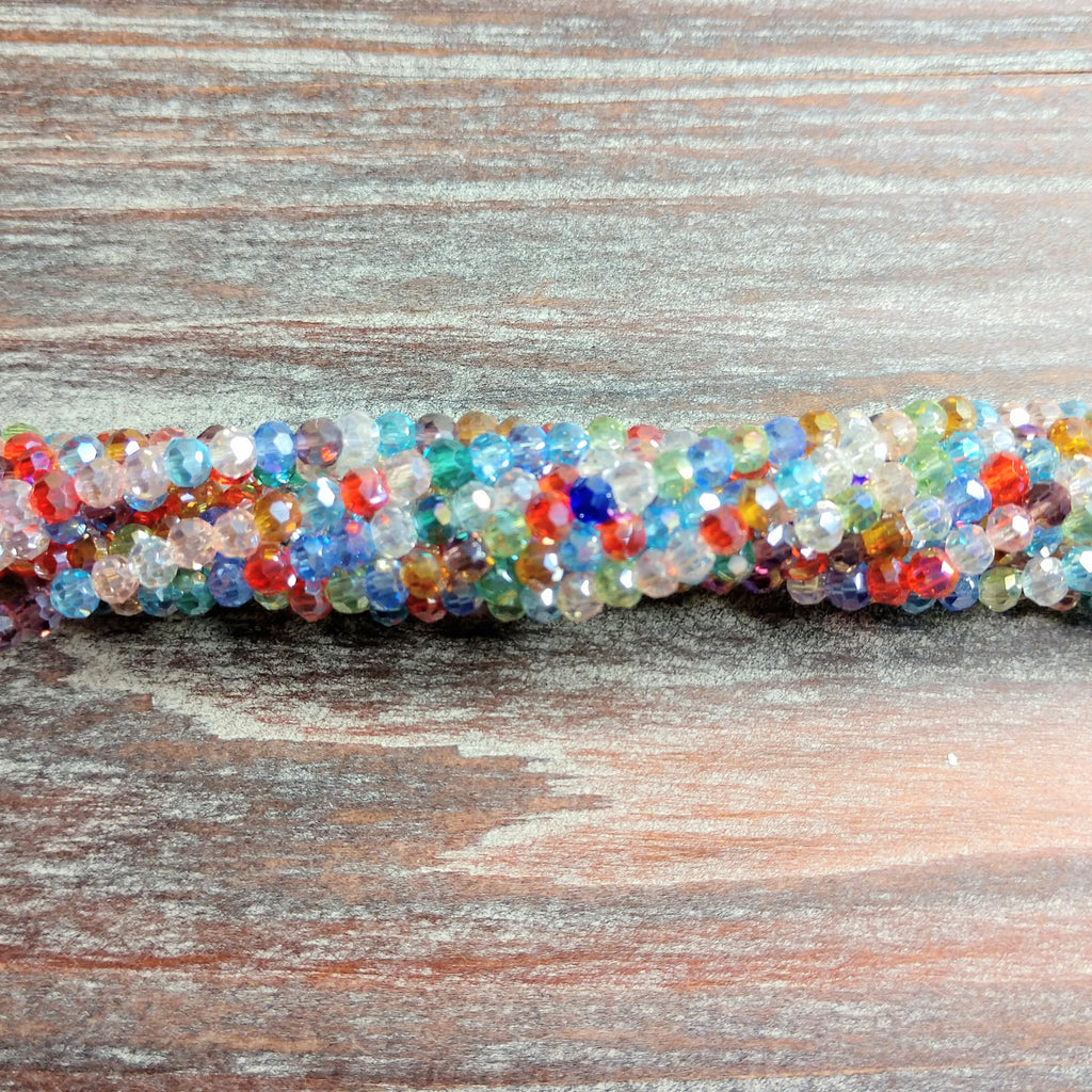 CCR-0500 -  3mm Chinese Crystal Round Bead Strand,Multi | Pkg 1